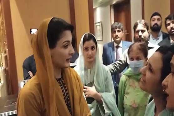 Maryam Nawaz meets members of women wing in Karachi