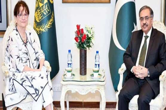 Foreign Secy, UN Secy Gen's envoy discuss Afghan peace process
