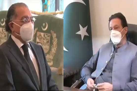 Munir Akram calls on PM in Islamabad