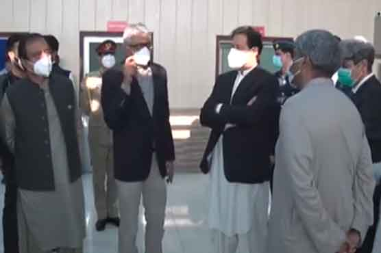 Imran Khan pays surprise visit to PIMS Hospital Islamabad