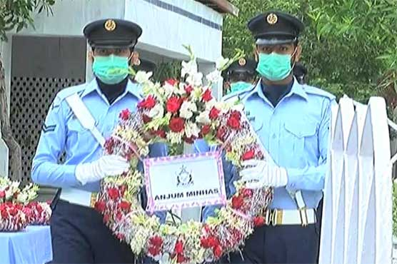 Air Force Day: PAF contingent presents guard of honor at Rashid Minhas tomb