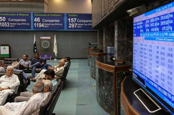 PSX declines 345.23 points to close at 41,828.91 points