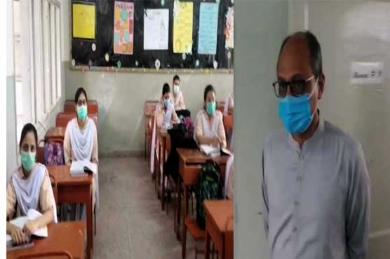 Saeed Ghani visits educational institutions to inspect coronavirus SOPs enforcement