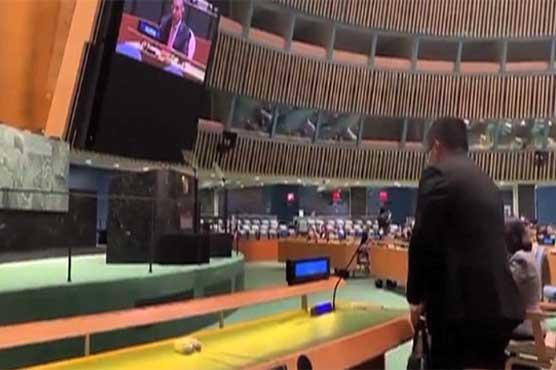 Indian diplomat walks out during PM Imran UNGA speech