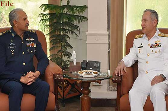 Naval chief calls on air chief, acknowledges PAF support in maritime defence