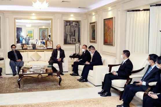 Chinese envoy meets ex-president Asif Zardari, PPP chairman Bilawal Bhutto