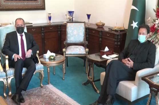PM Imran, Russian FM agree on peaceful resolution of Kashmir dispute