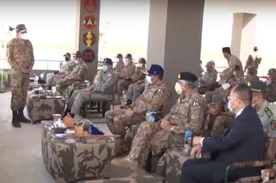 CJCSC visits air defence firing ranges near Karachi