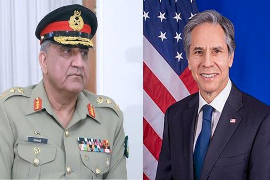 COAS, US Secretary of State discuss Afghan peace