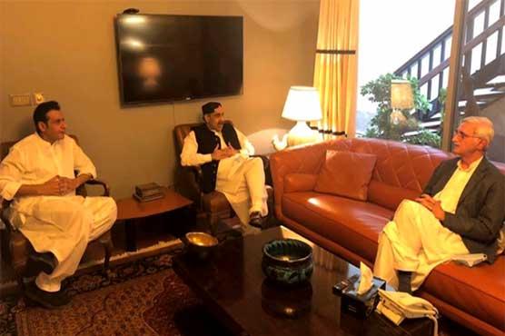 Sahabzada Mehboob Sultan meets Jahangir Tareen