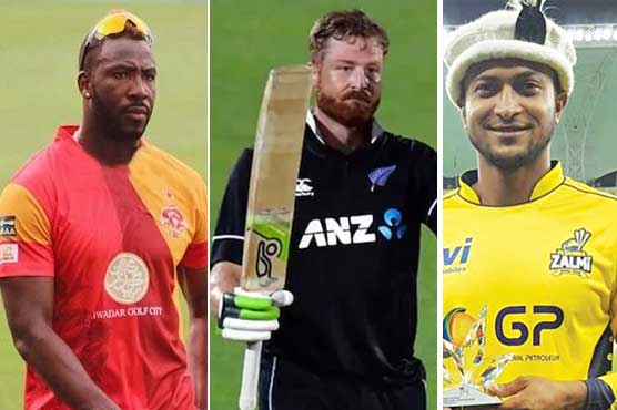 Guptill, Russell and Shakib to feature in remaining PSL 6 matches