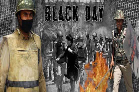 Youm-e-Istehsal: Shutdown, Black Day observed in occupied Kashmir