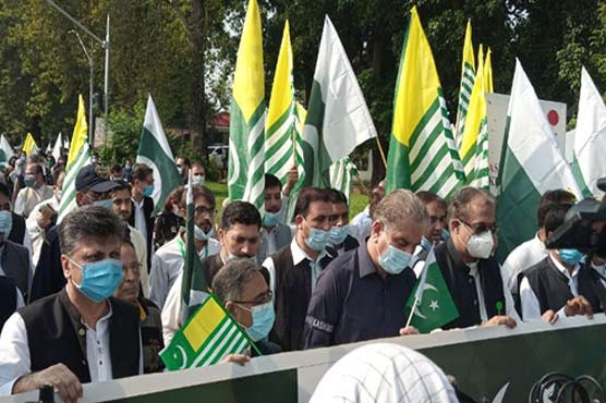 Rally held in Islamabad to express solidarity with oppressed Kashmiris
