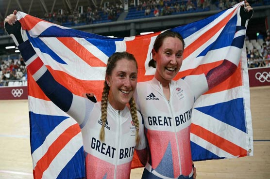 Laura Kenny wins fifth Olympic gold medal to join British greats