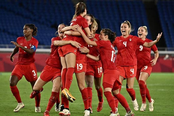 Canada beat Sweden on penalties to win Olympic women's football gold