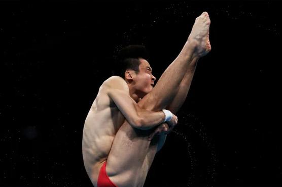 China's Cao Yuan wins Olympic men's 10m platform diving gold