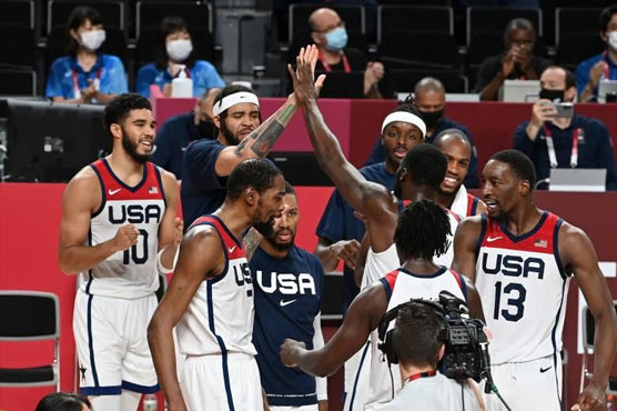 USA edge France for basketball gold on Olympics' 'Super Saturday'