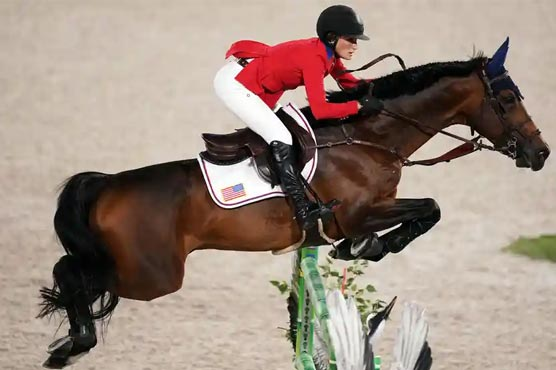 Jessica Springsteen wins Olympic equestrian team silver with US