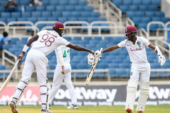 Brathwaite misses century as West Indies edge ahead of Pakistan