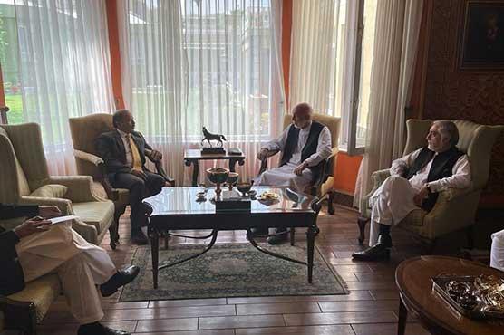 Pakistan's envoy, Hamid Karzai, Dr Abdullah discuss situation in Afghanistan
