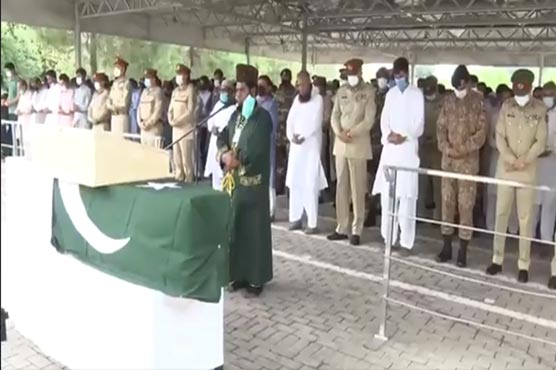 Martyred Pakistan army captain laid to rest