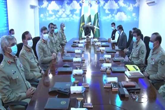 President Alvi visits GHQ, briefed on operational preparedness of Pak Army