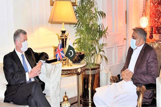 UK Intelligence Service chief discusses Afghan situation with COAS Bajwa