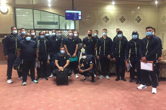 South Africa T20 squad arrive in Lahore