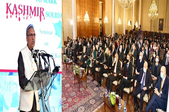 Pakistan will continue to support Kashmiris struggle: President