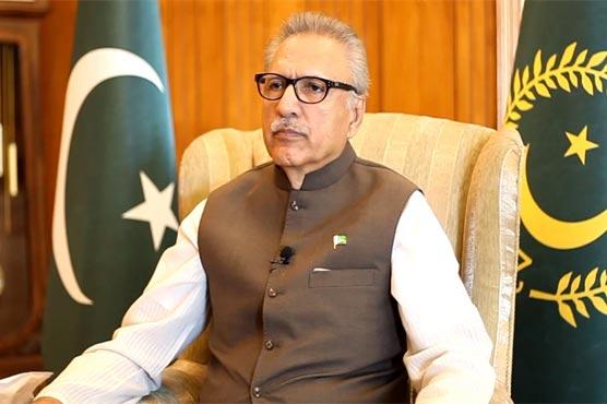 India playing with fire over Kashmir, President Alvi addresses AJK Legislative Assembly