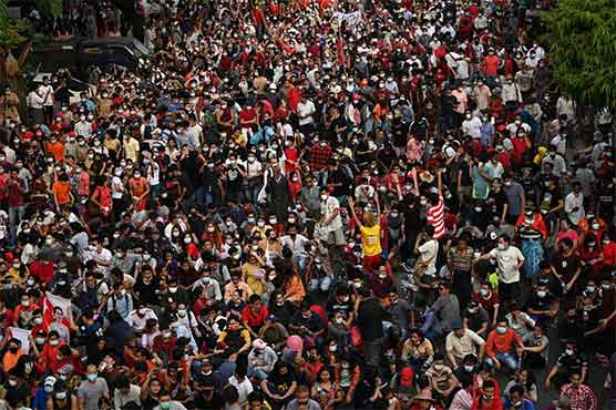 Tens of thousands rally in growing protests against Myanmar coup