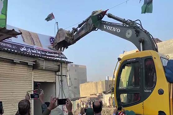 Operation launched to demolish encroachments at Karachi's Gujjar Nullah