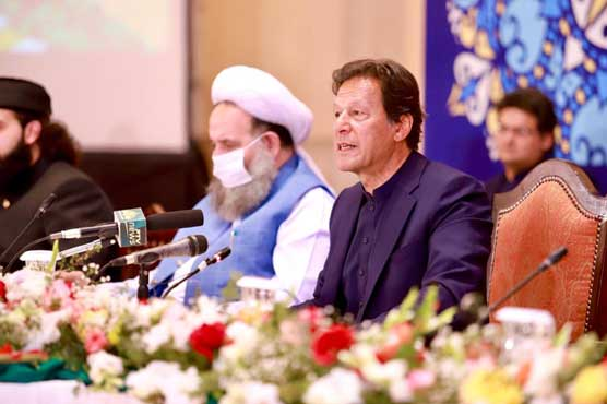 Society moves toward destruction when people do not distinct between good or bad: PM Imran