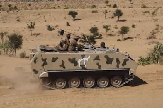 Karachi Corps conducts Exercise 'Jidar-ul-Hadeed' in Thar Desert