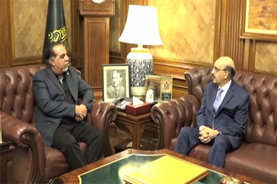 AJK President meets Sindh Governor