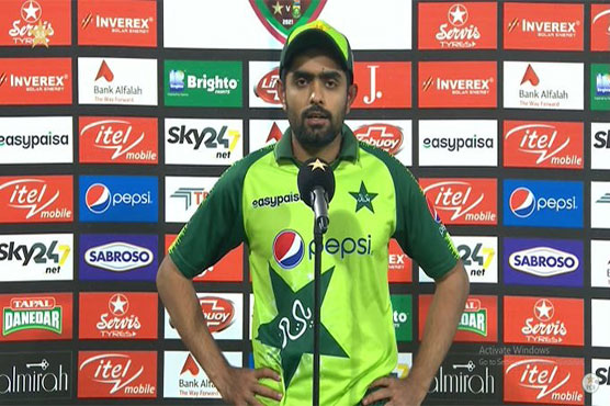 Babar expresses satisfaction over team's performance, T20 series victory