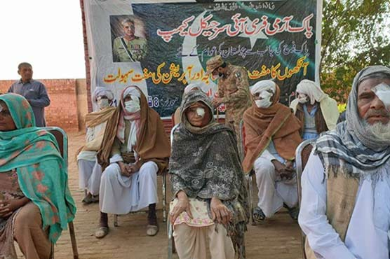 In pictures: Pakistan Army installs free eye surgical camp in Cholistan