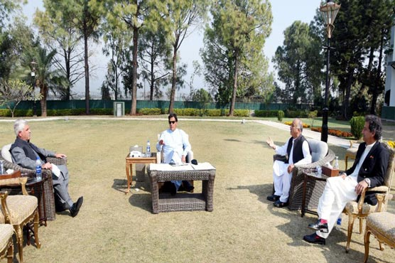 Former KP Minister for Tourism, Culture Atif Khan calls on PM Imran