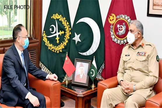 COAS Gen Qamar Bajwa meets Chinese Ambassador Nong Wrong