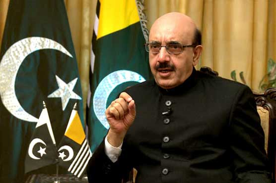India stockpiling weapons to target Pakistan: AJK President