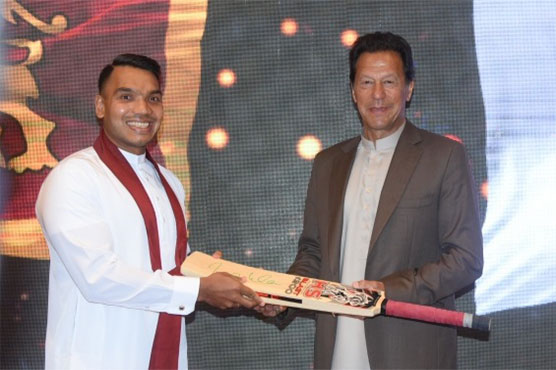 Receiving signed bat from PM Imran a 'memory for ages': Sri Lankan minister