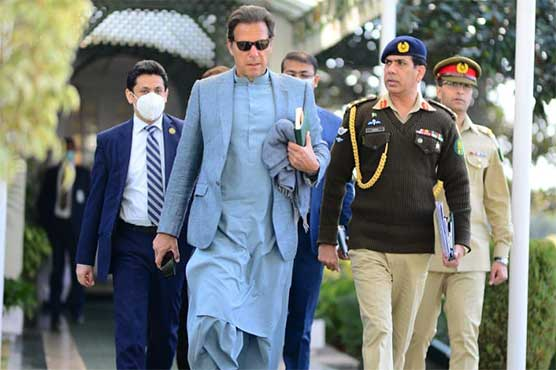 PM Imran Khan arrives in Lahore on one day visit