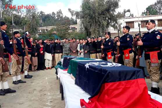 Funeral prayers offered of policeman killed escorting polio workers by unknown gunmen