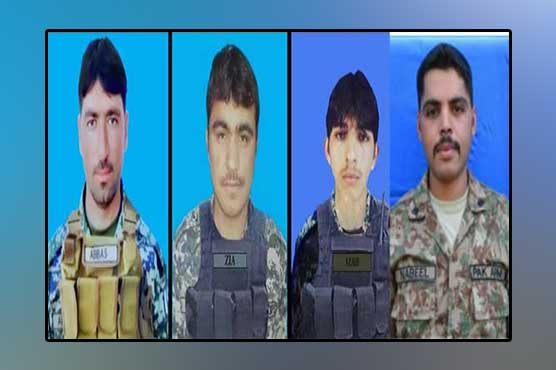 Four soldiers martyred in LoC, North Waziristan clashes: ISPR