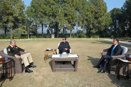 COAS, DG ISI call on Prime Minister Imran Khan