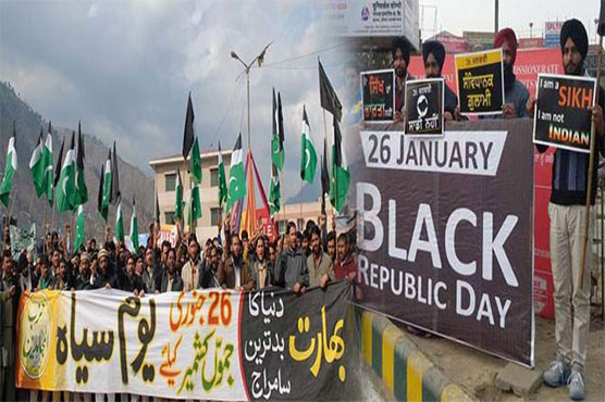 Kashmiris observing India's Republic Day as Black Day