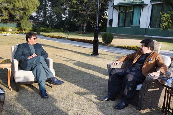 Senate Chairman Sadiq Sanjrani calls on PM Imran