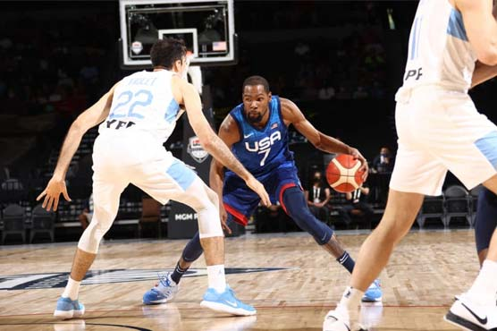Durant gets US back on track in Argentina blowout