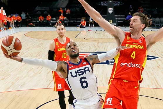 Team USA rallies to beat Spain in final tune-up before Olympics