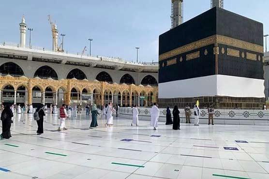 60,000 pilgrims converging at Maidan-e-Arafat to perform main ritual of Hajj 'Waqoof-e-Arafat'